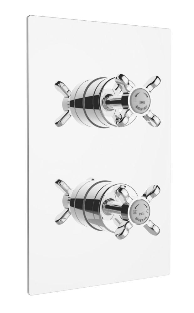 Bristan 1901 Built-In Shower Valve with Divertor Fixed Chrome