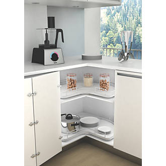 Hafele Revolving Storage Tray Unit Silver/White