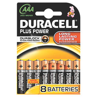 Duracell AAA Batteries 8 Pack