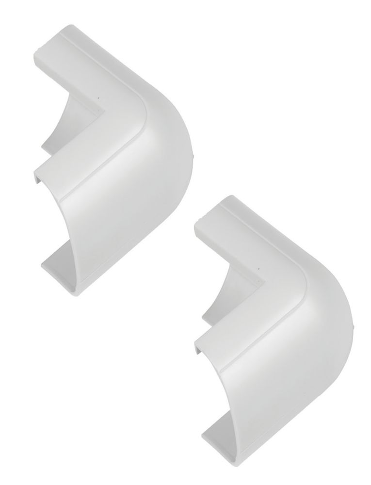 D-Line Clip-Over External Bend 30 x 15mm White Pack of 2
