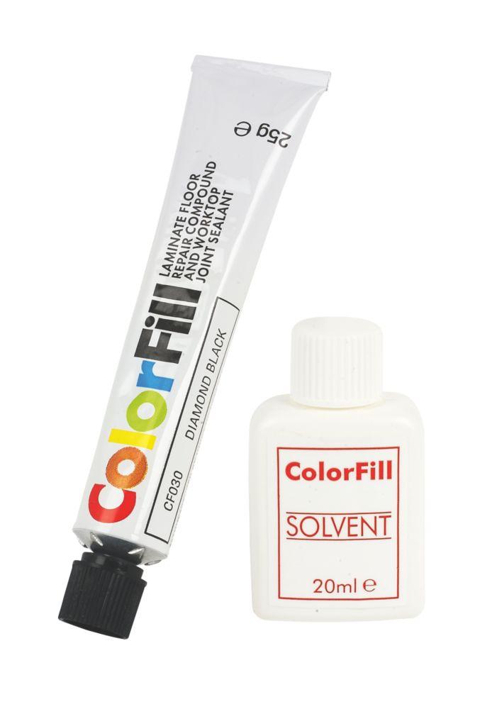 Colorfill Worktop Compound Diamond Black 2 Pcs