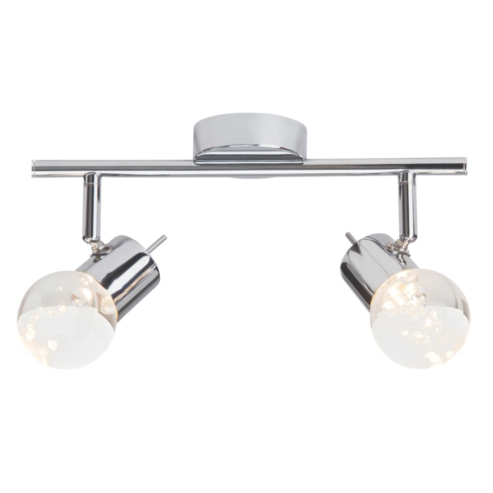Image of Brilliant 2-Light LED Spotlight Chrome 680lm 4.6W