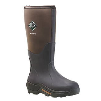 Muck Boots Wetland Non-Safety Wellington Boots Brown Size 8