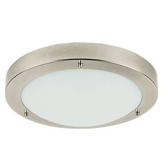Portal Bathroom Ceiling Light Brushed Chrome Es 60w Bathroom Ceiling Lights Screwfix Com
