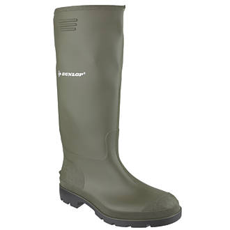 Dunlop Non Safety Footwear Pricemaster 380VP Non-Safety Wellington Boots Green Size 5