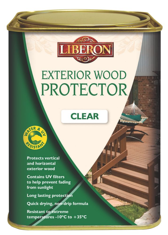 Image of Liberon Exterior Wood Protector Clear 1Ltr