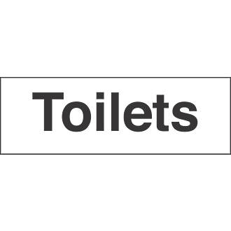 Toilets Sign 100 x 300mm