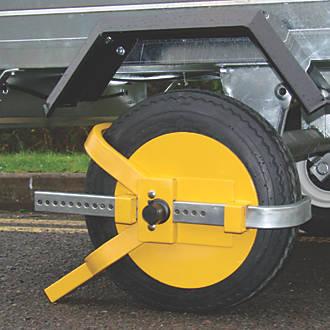 Maypole Universal Trailer Wheel Clamp 810 Yellow