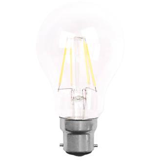 Screwfix Light Bulbs: LAP GLS LED Lamps Clear BC 6W 3 Pack,Lighting