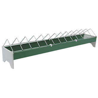 Stockshop Wolseley Plastic & Steel Ground Feeder x 148mm Green 3.5kg