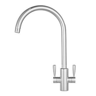 Franke Ascona Sink Mounted Mono Mixer Kitchen Tap Silk Steel.