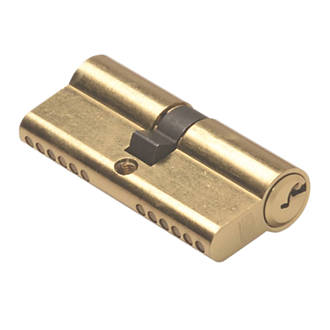Union 6-Pin Euro Cylinder Lock 35-45 (80mm) Brass
