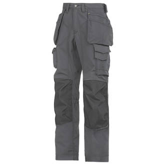 Snickers RipStop Floorlayer Trousers Grey  Black 41 W 32 L