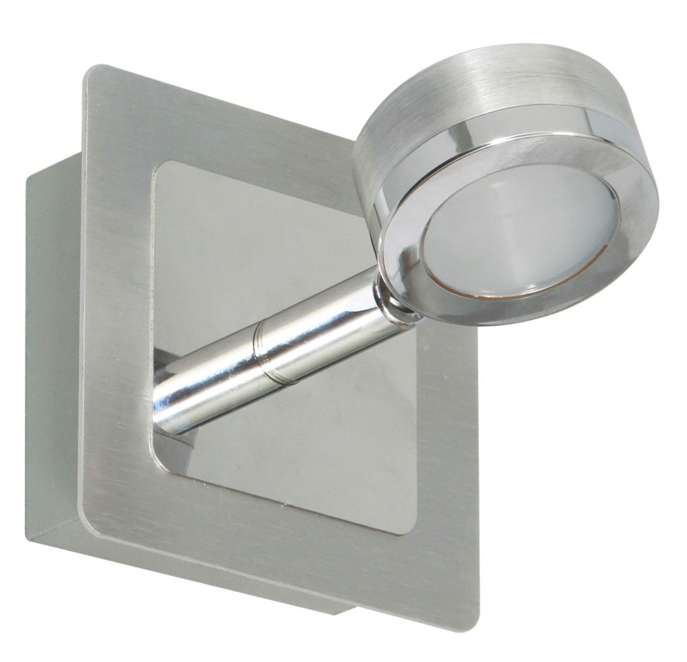Image of Ranex LED Bathroom Wall Light Brushed Stainless Steel 3W
