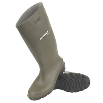 Dunlop Non Safety Footwear Pricemaster Non-Safety Wellington Boots Green Size 7