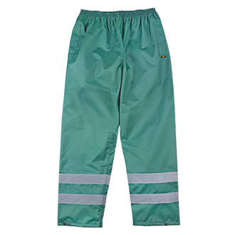 "Site Overtrousers Waterproof Green Large 36-38"" W 32"" L"