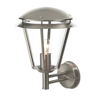Antler Brushed Stainless Steel Wall Light 60W