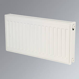 Kudox Premium Double Panel Compact Convector Radiator White 400 x 700mm.