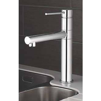 Swirl Essential Mono Mixer Kitchen Tap Chrome at Screwfix