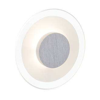 Brilliant Budapest Round LED Wall Light Satin Chrome 5W 240V