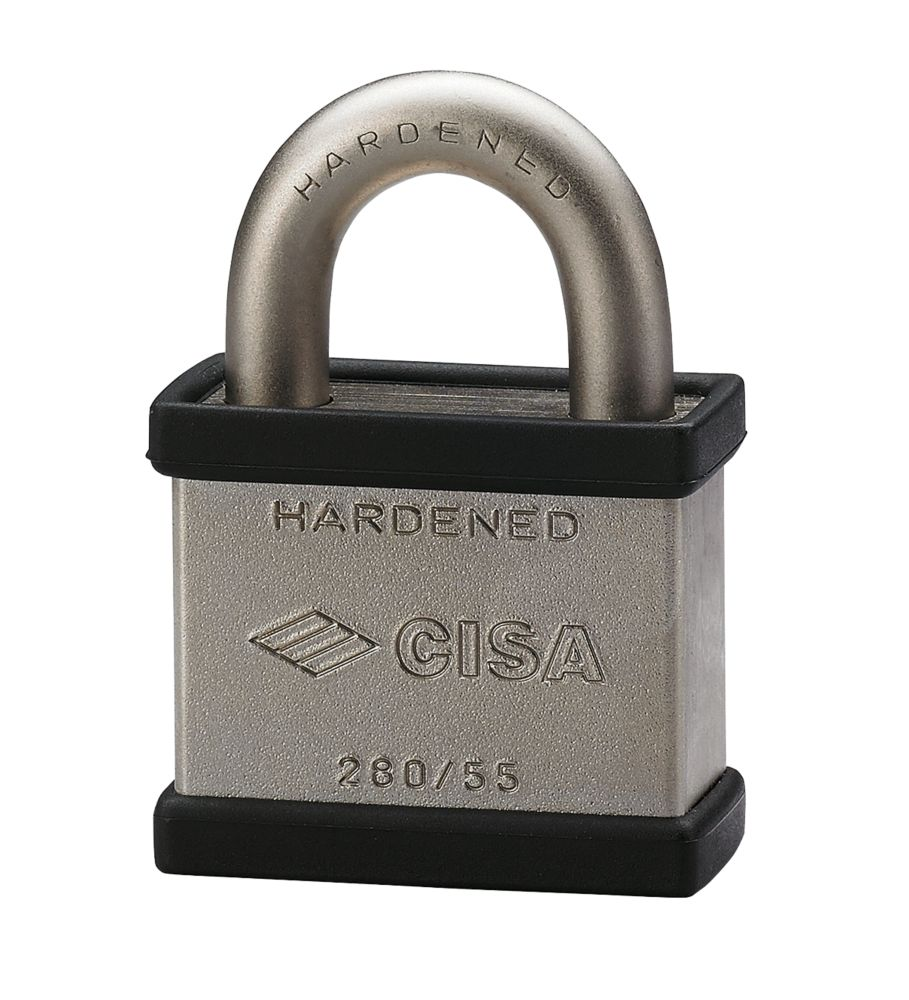Cisa Open Shackle Steel Padlock Max. Shackle W x H: 26 x 65mm