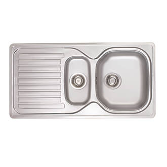 Franke Elba Sink Stainless Steel 1½-Bowl 965 x 500mm.