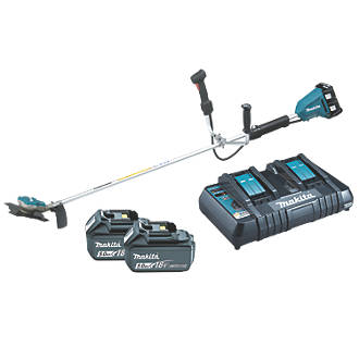 Makita Twin 18V 5.0Ah Li-ion Cordless Brushless Brushcutter