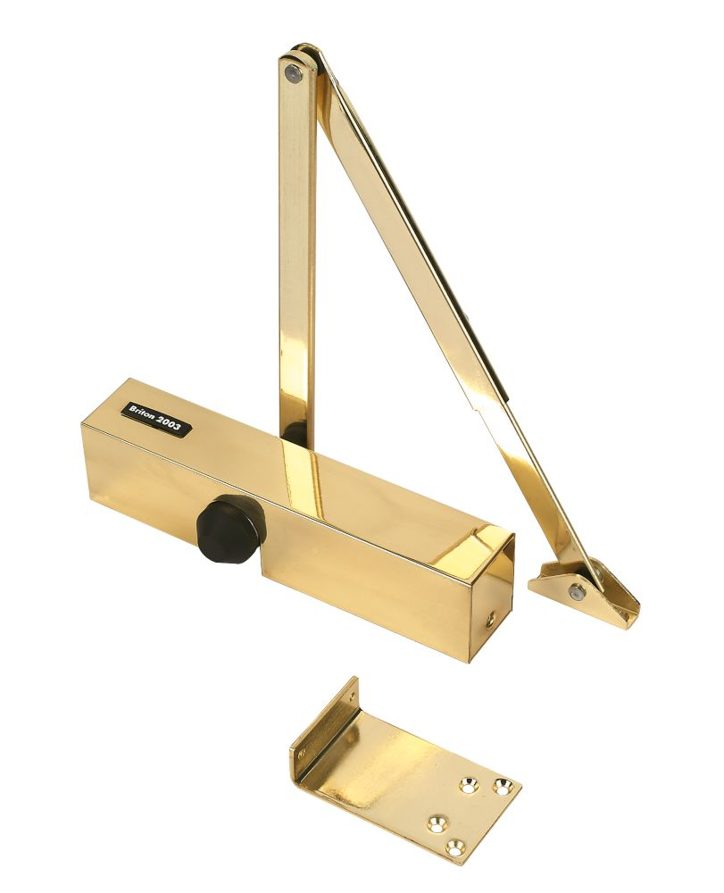 Image of Briton 2003PBS Overhead Door Closer Polished Brass