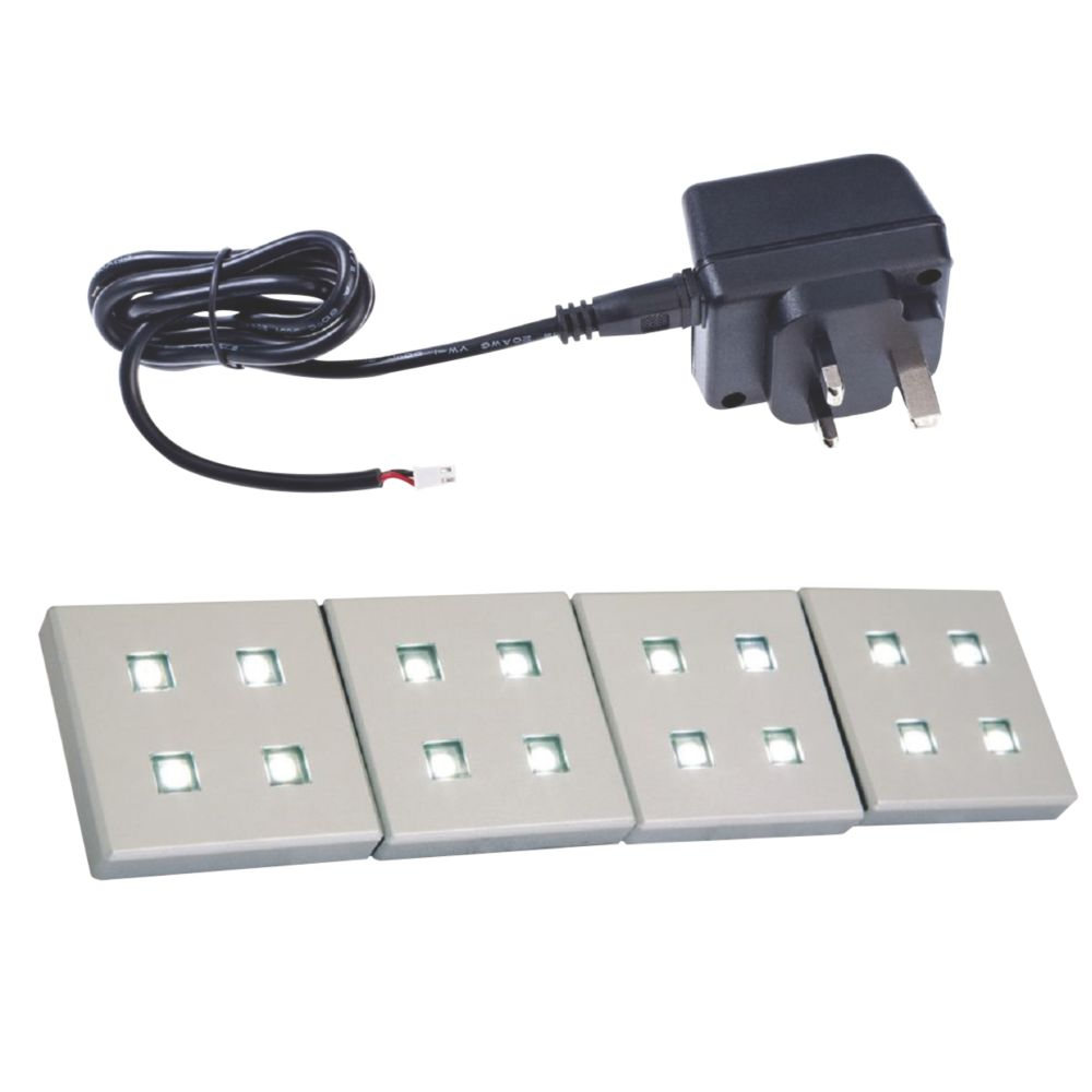Image of Sensio Fyra LED Plinth Lights Kit Aluminium 4 Pack