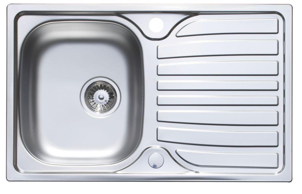 Astracast Cascade Kitchen Sink Satin Polish Stainless Steel 1-Bowl 800 x 500mm