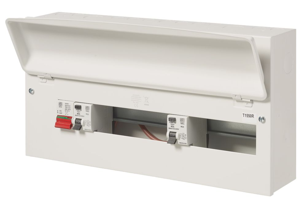 Image of MK Sentry 100A 21-Way Dual RCD Metal Consumer Unit & 2 x 80A RCDs