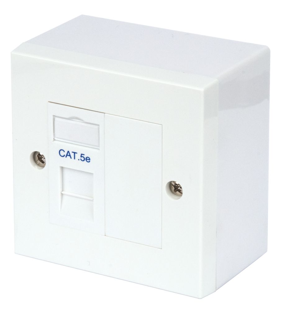 Philex RJ45 Module Outlet Kit Single Cat 5E