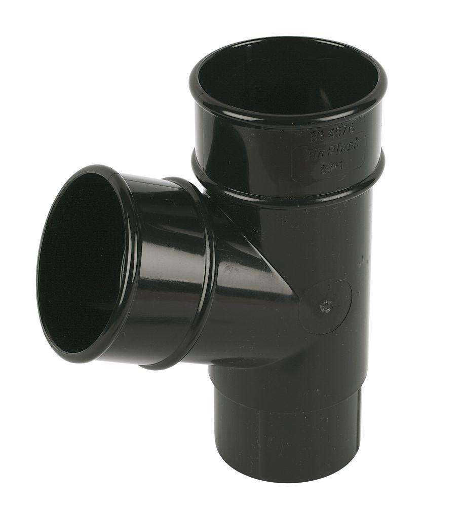 112.5° Pipe Branch Black 68mm