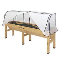 Veg Trug Greenhouse Frame & Cover 1.8 x 0.76 x 0.6m