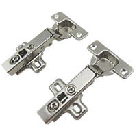 Soft-Close Clip-On Concealed Hinges 110° 35mm 2 Pack