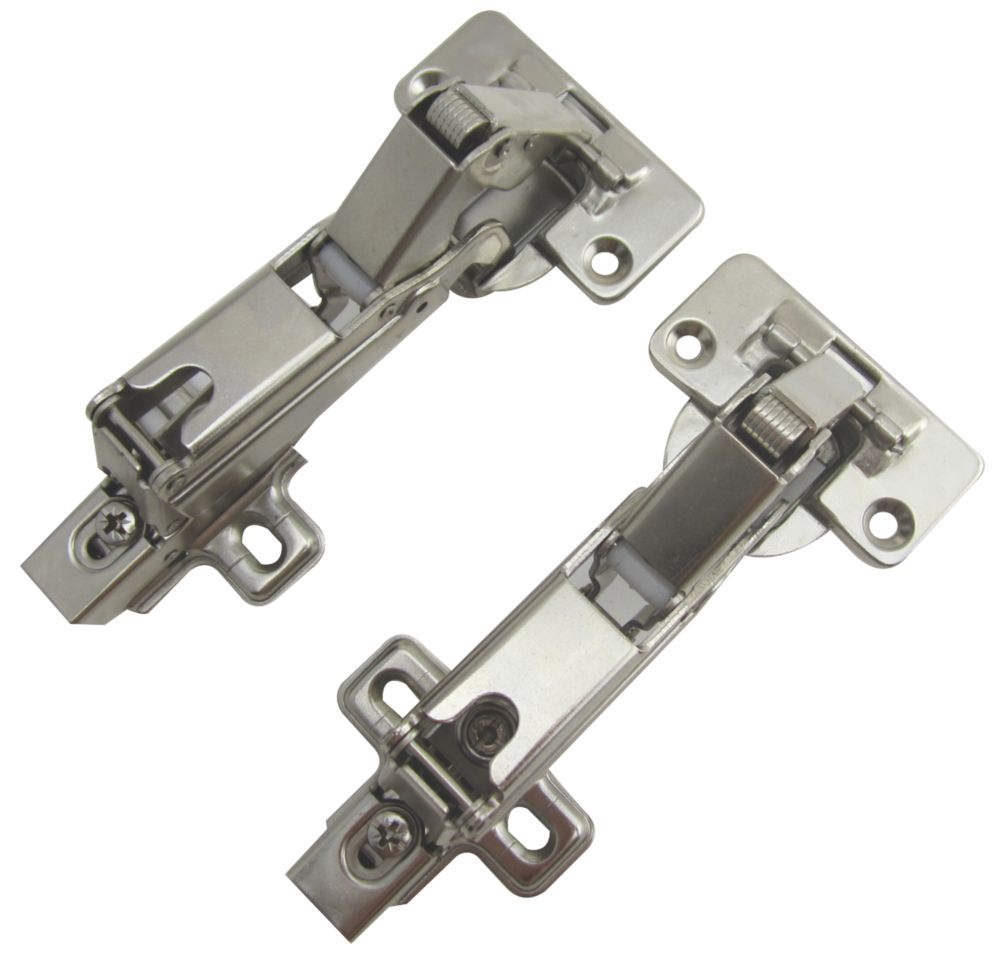 Soft-Close Clip-On Concealed Hinges 35mm 165° Pack of 2