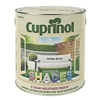 Cuprinol Garden Shades Exterior Wood Paint Matt White Daisy 2.5Ltr