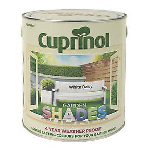 Cuprinol Garden Shades Exterior Wood Paint Matt White Daisy 2 5ltr Exterior Wood Paint