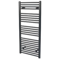 Reina Flat Ladder Towel Radiator Matt Black 1100 x 500mm 560W 1908Btu