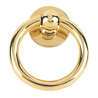 Plain Ring Door Knocker Polished Brass  x 27.5mm