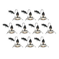 LAP Fixed LED Downlight Contractor Pack Brushed Chrome 240V 10 Pack