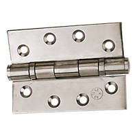 Eclipse Ball Bearing Hinges Polished Stainless Steel 102 x 76mm 2 Pack