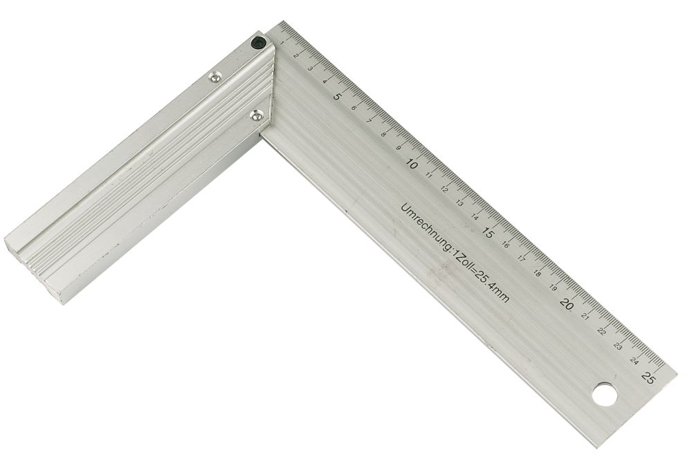 "Aluminium Tri Square 10"" (254mm)"
