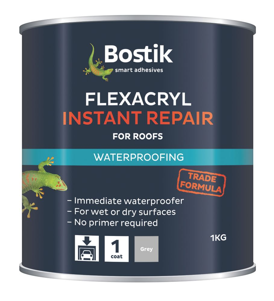 Flexacryl Roof Repair Compound Grey 1kg