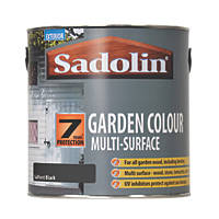 Sadolin Garden Colour 7-Year Woodstain Softest Black 2.5Ltr