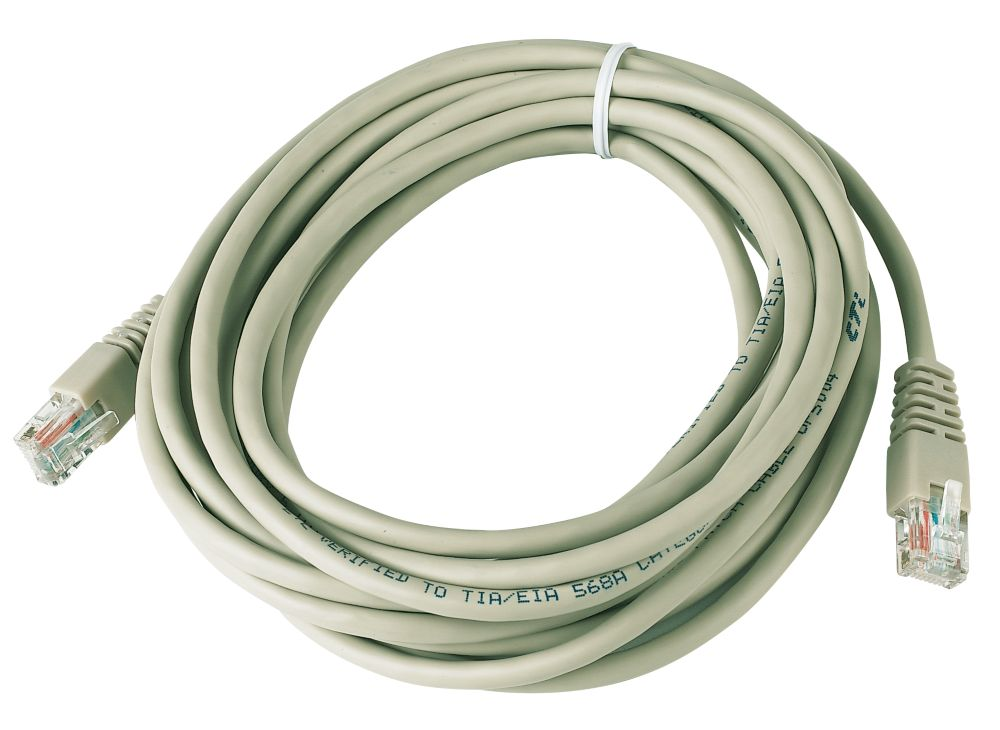 RJ45 Booted Patch Lead 5m Ivory