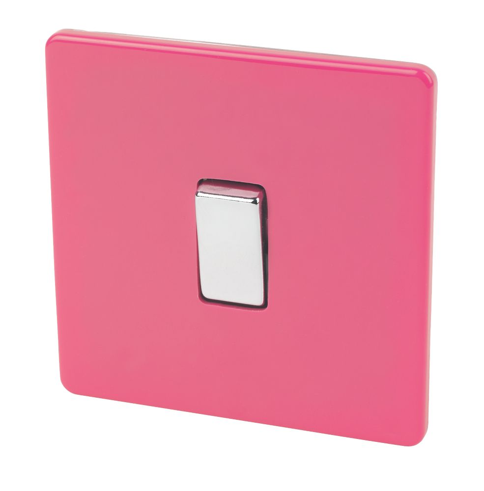 Varilight 1-Gang 2-Way 10A Switch Cerise Pink