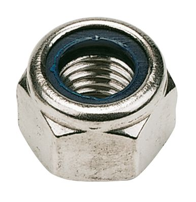 Nylon Lock Nuts A2 Stainless Steel M6 Pack of 100