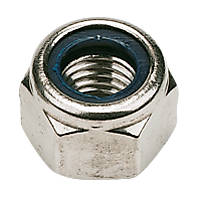 Nylon Lock Nuts A2 Stainless Steel M6 100 Pack