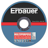 Erbauer Cutting Discs 115 x 2.2 x 22.23mm 5 Pack